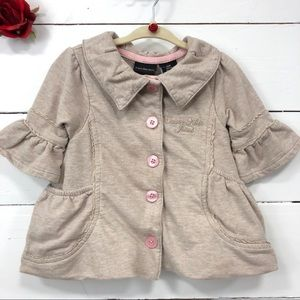 Calvin Klein Baby Girl Button Up Jersey Jacket 12M